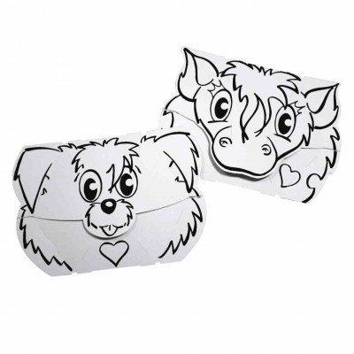 Dog and Pony Mask - Card