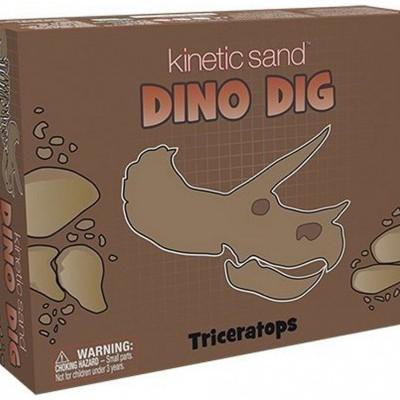 Areia Cinética Dino Dig Triceratops