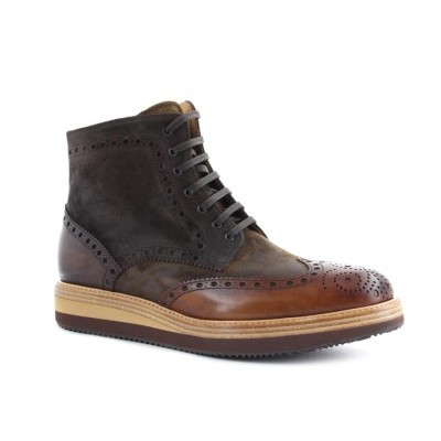 BOTA CUBANAS BODY100 CAMEL+DARK BROWN