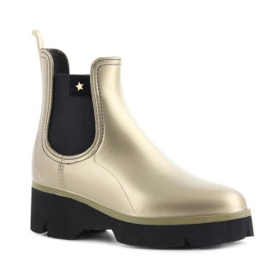 RAINYBOOT CUBANAS DERBY210 GOLD+BLACK