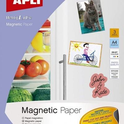 Papel de impressão magnético
