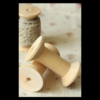 Natural Wooden Spool Bobin