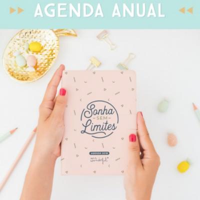 Agenda 2018 (pequena) | Vista diária - Sonha sem...