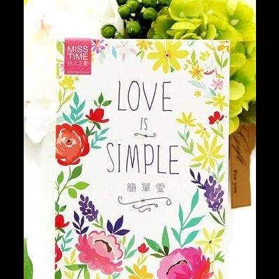 Cute Paper Post Card Set | Simple Love