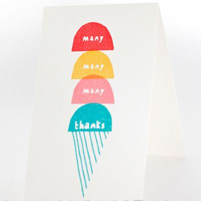 Stamp Rubber  Many Thanks | Stamp gelados