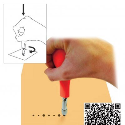 Craft punch 3 points | Furador (3 dimensões)