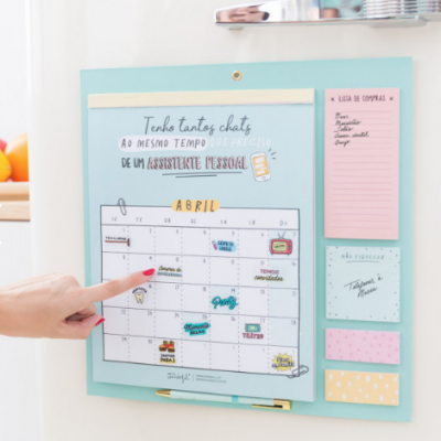 Calendário magnético para frigorífico - 2019