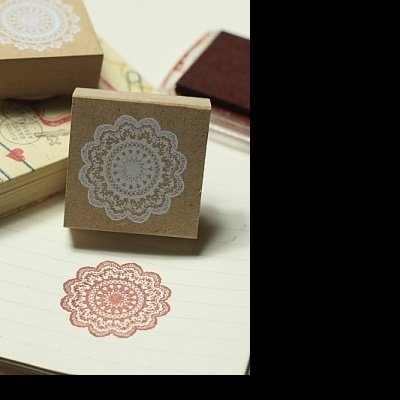 Cute wooden stamp lace