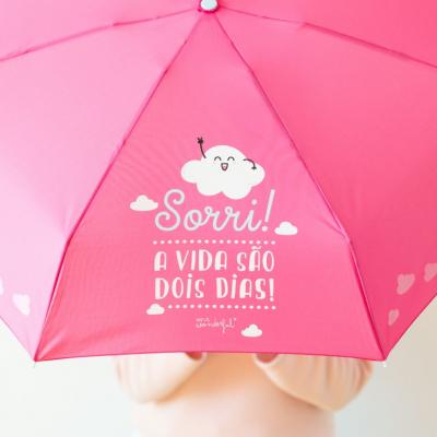 Guarda-chuva pequeno | Sorri! A vida são dois dias