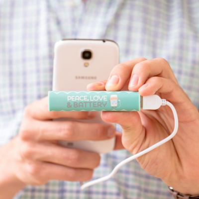Power bank - Peace, love & battery