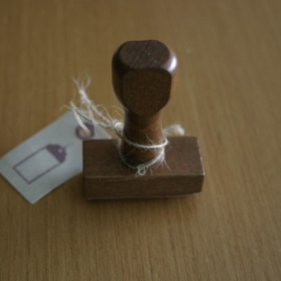 Vintage Wood Rubber Stamp - To/From