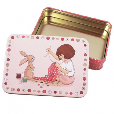 Small Rect Sewing Tin | Pequena Caixa de Costura