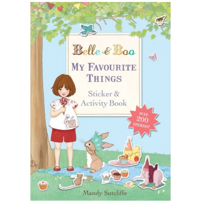 My Favourite Things Sticker & Activity Book | Livro de atividades e autocolantes