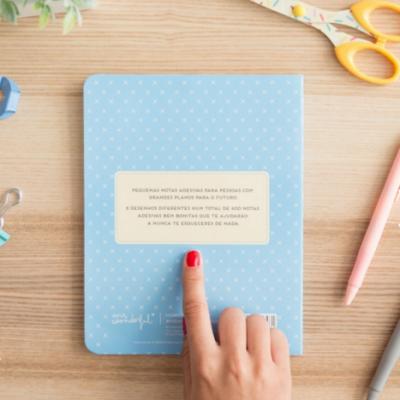 Caderno com notas adesivas | A vida é um prazer...