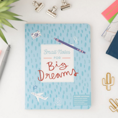 Caderno notas adesivas | Small notes for big dreams