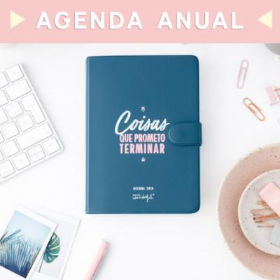 Agenda Clássica pequena 2019 (vista diária) - coisas que prometo terminar
