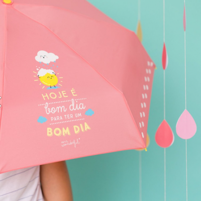 Guarda-chuva pequeno | Hoje é bom dia para ter um bom dia