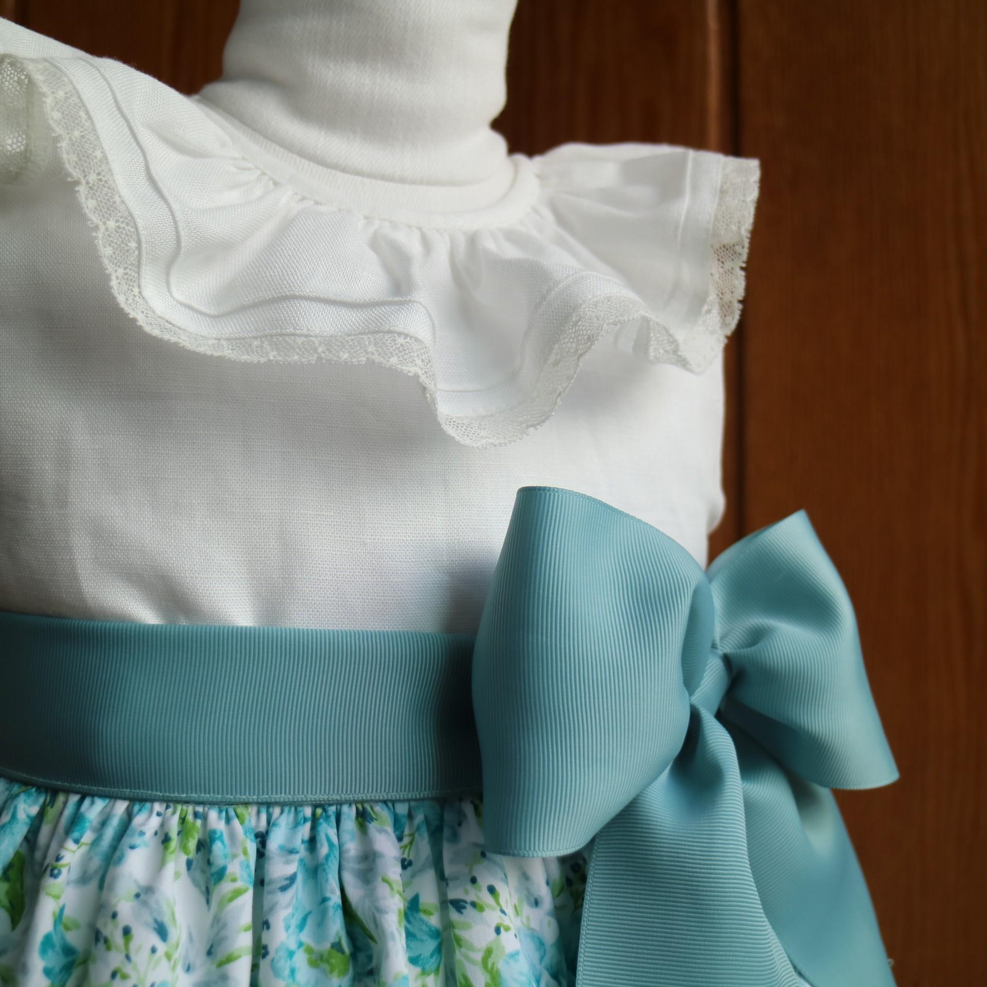 Blue Peony Dress