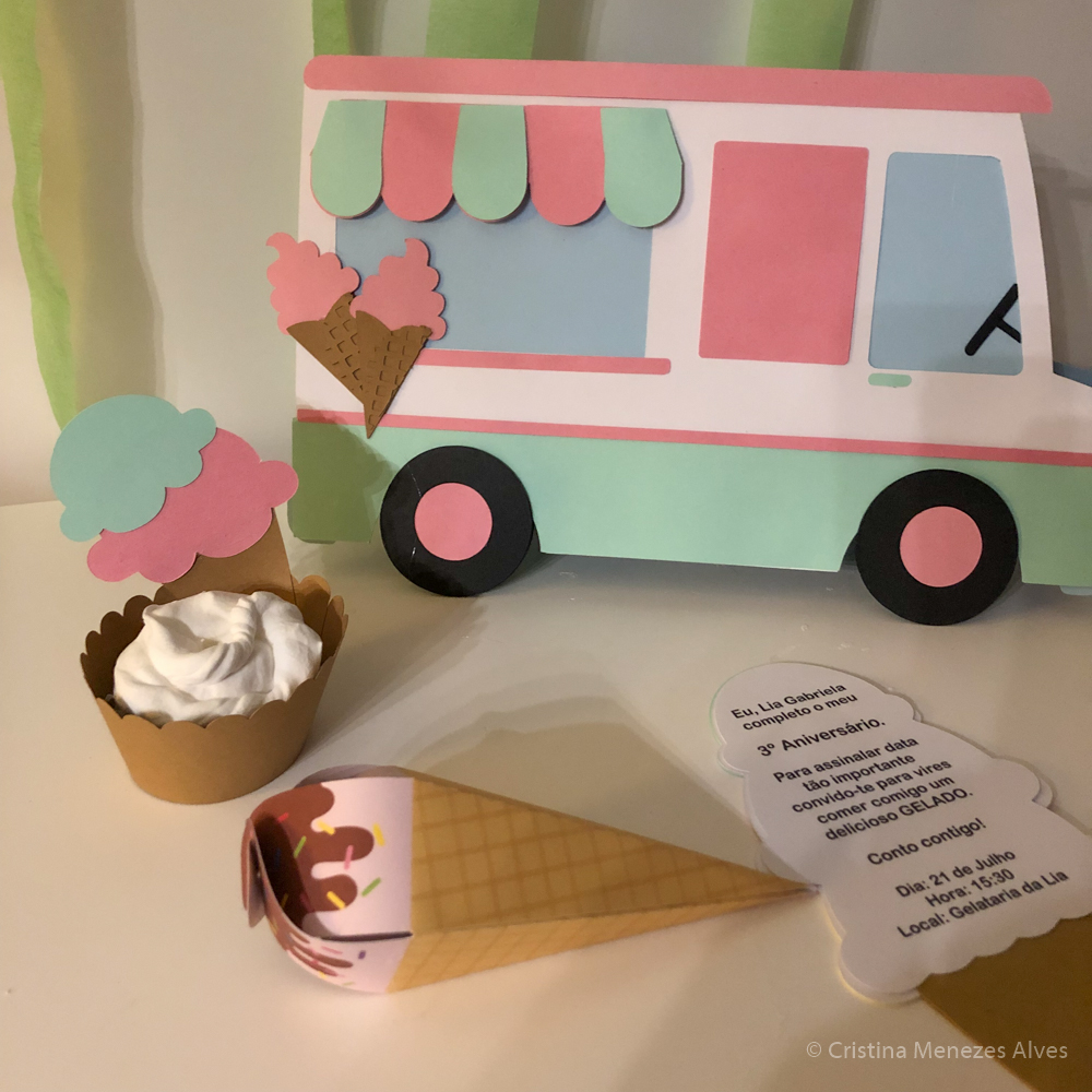 Cintas Cupcakes gelado - conjunto 8 unidades
