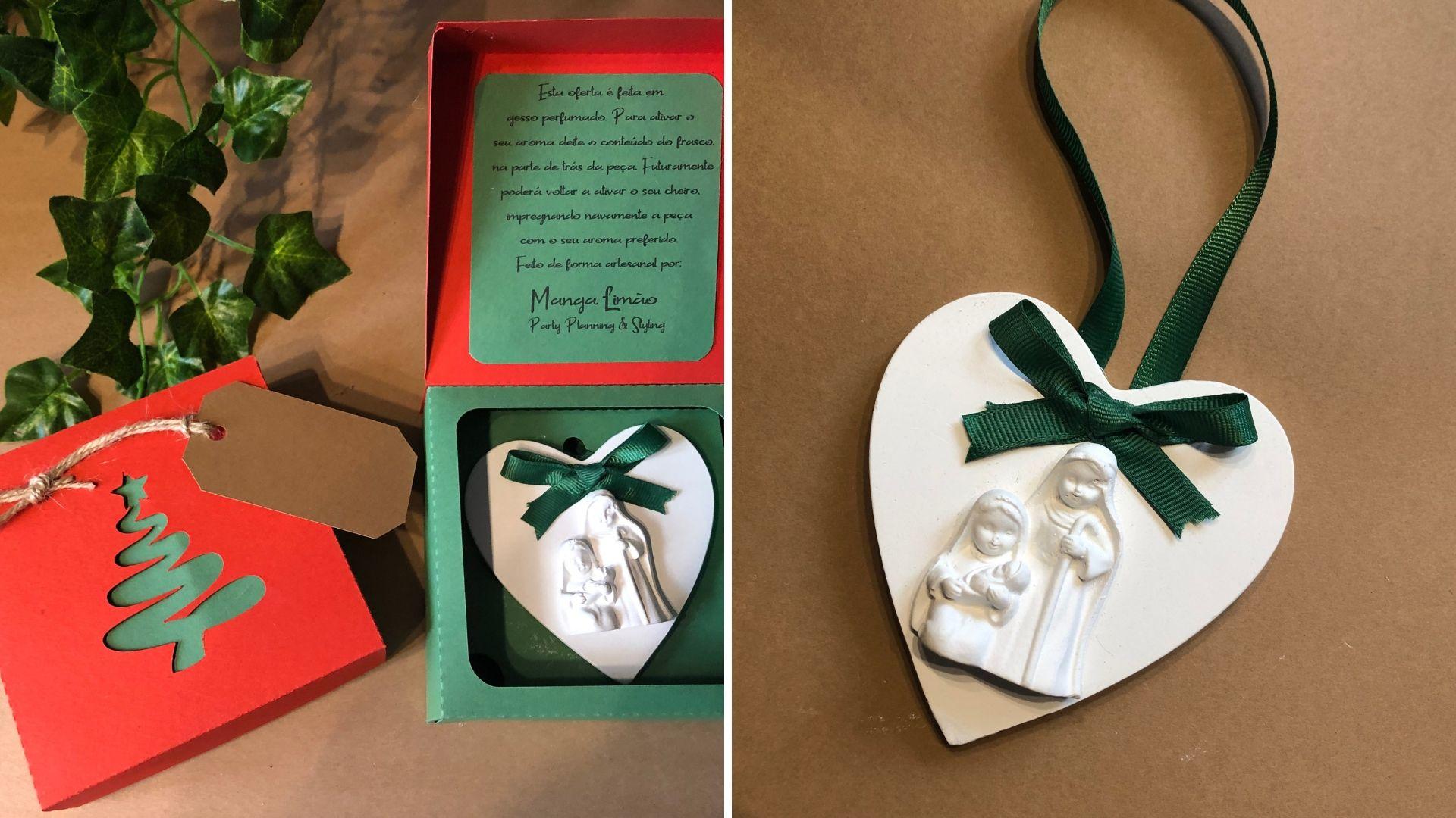 Coração com Presépio em gesso perfumado