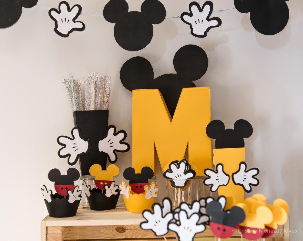 Kit Decoração de Festa - Tema Mickey