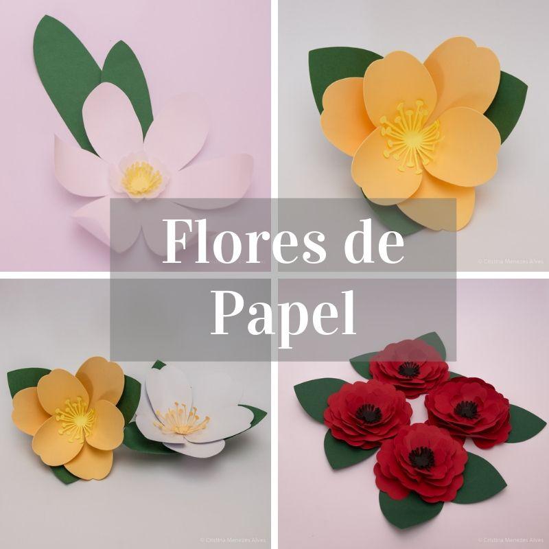 Plantas e Flores Papel