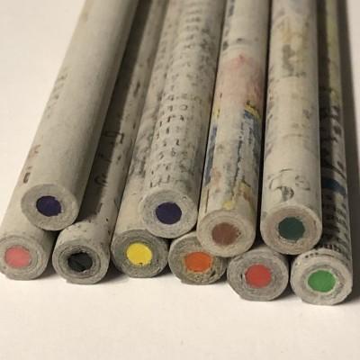 Saco de Lápis de cor em papel com semente