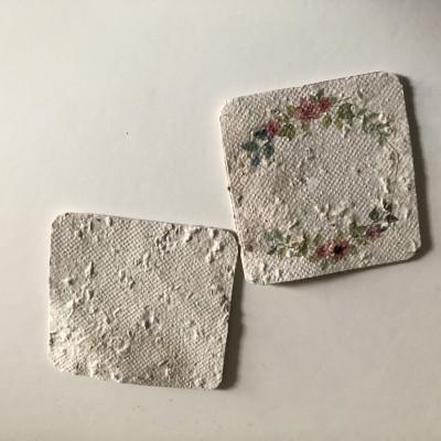 Pack 4 Cartões impressos em Papel Vivo Reciclado