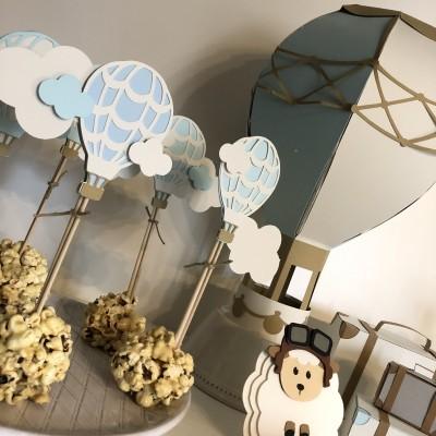 Palitos balão de ar quente - conjunto 8 unidades