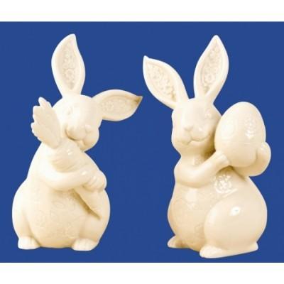 Conjunto 2 Coelhos em Ceramica