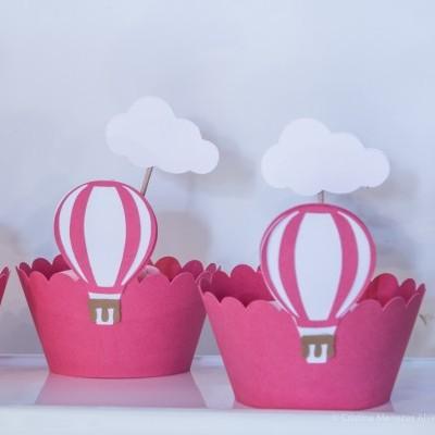 Cinta para Bolinhos com Balão de Ar quente Pack 12
