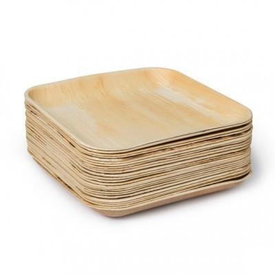 Pratos descartáveis em folha de Palmeira