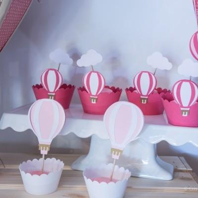 Topos de Bolo Balão de ar Quente