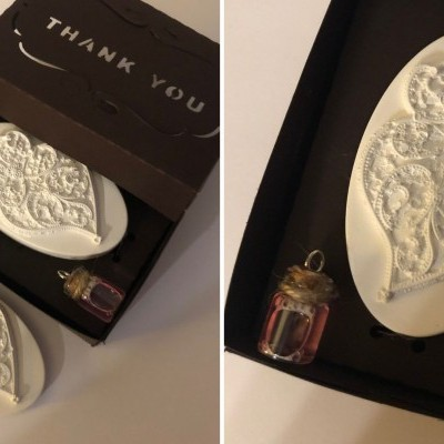 Coração de Viana em gesso Perfumado