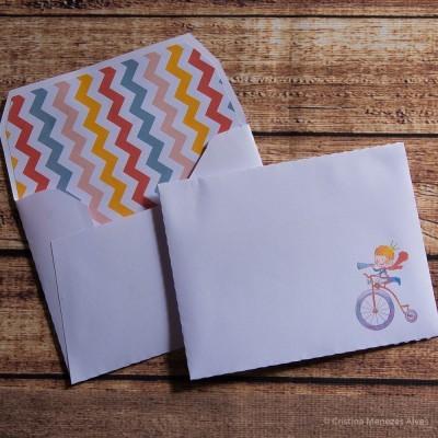 Envelope Infantil Forrado - Pack 12 unidades