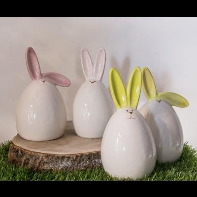 Conjunto Coelhos de Ceramica