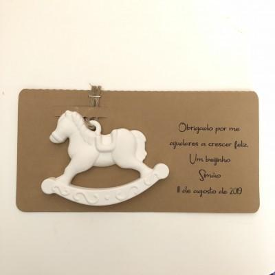 Pack Cavalo de Baloiço em Gesso perfumado com embalagem personalizada