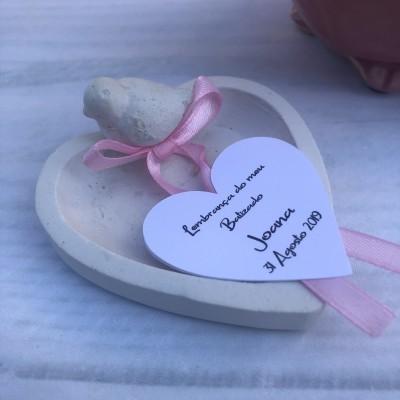 Prato Coração com Passarinho