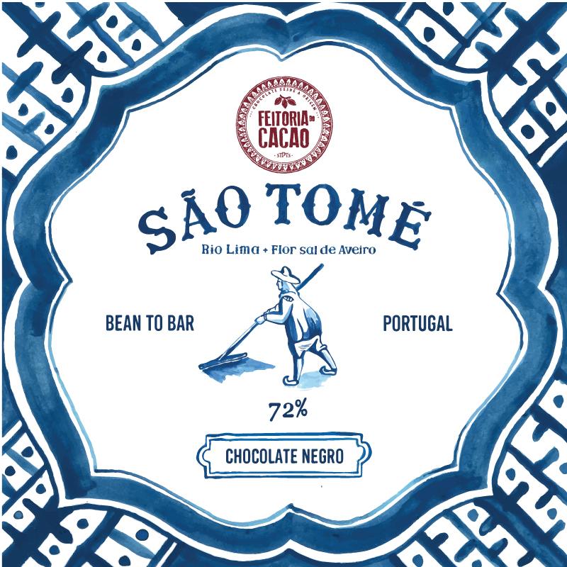 São Tomé Rio Lima 72% + Flor de Sal Aveiro - Feitoria do Cacao