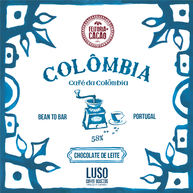 Chocolate Leite Colômbia 58% + Café da Colômbia - Feitoria do Cacao
