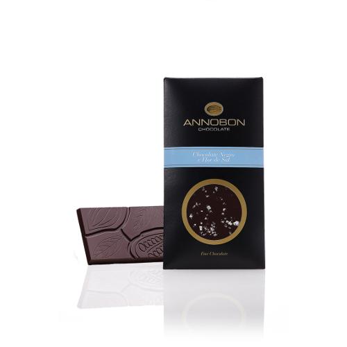 Tablete Chocolate Negro e Flor de Sal - Annobon