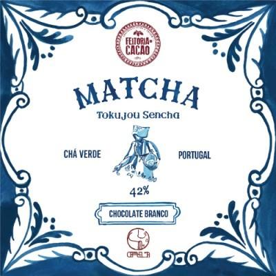 Chocolate Branco 42% + Matcha & Tokujou Sencha