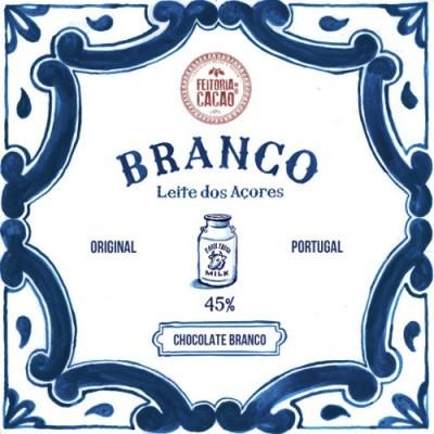 Chocolate Branco 45% + Leite dos Açores