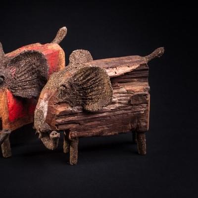 Animal de madeira