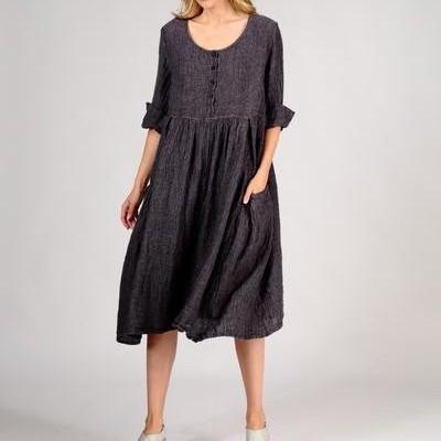 Vestido de Linho Violeta