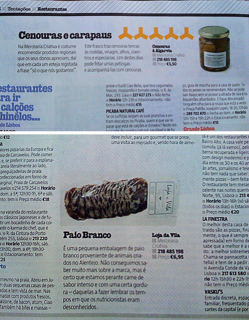 TENTAÇÕES · REVISTA SÁBADO · 04/04/2012