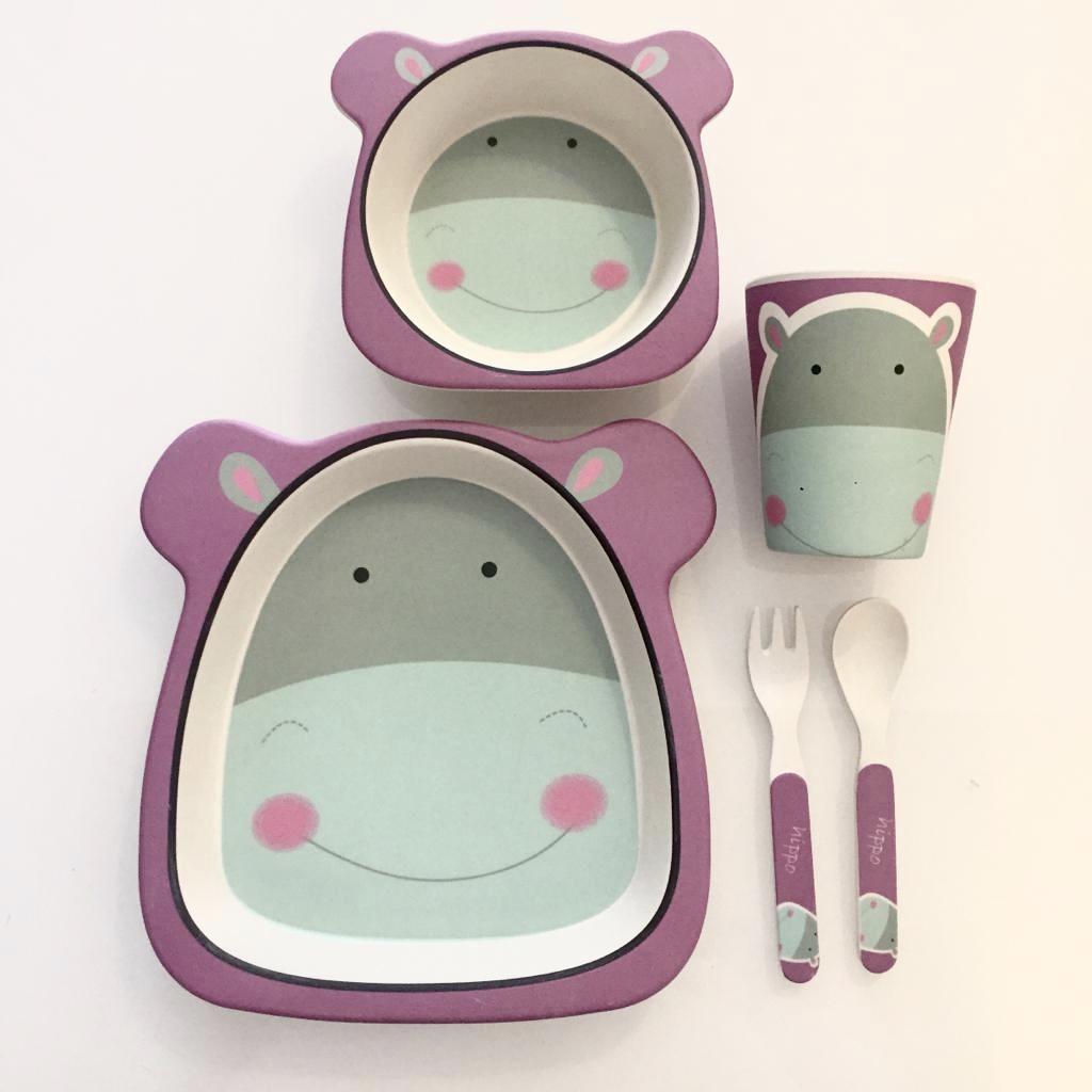 Conjunto Bamboo (5 peças) | Hipopótamo