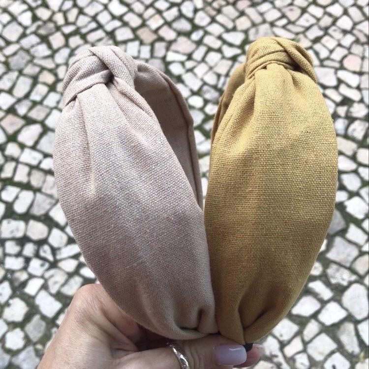 Bandolete Linho | Mostarda & Creme
