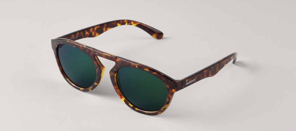 Cheetah Tortoise Wynwood with Dark Green Lenses