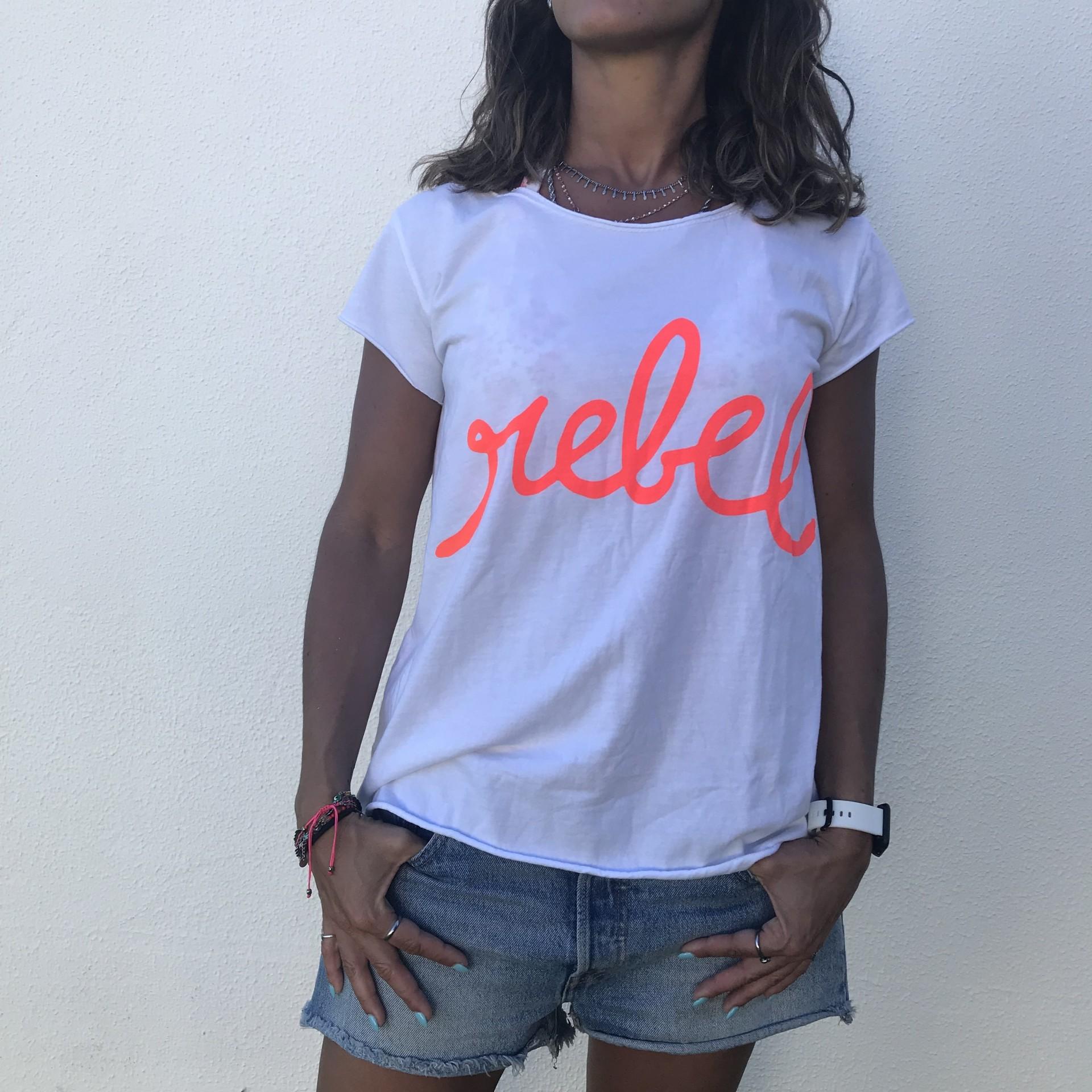 T-Shirt Rebel | Laranja Neon
